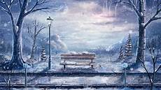winter painting iphone wallpaper wallpaper painting winter snow bench lantern
