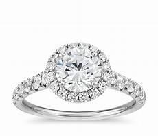 french pav 233 diamond halo engagement ring in platinum 1 2