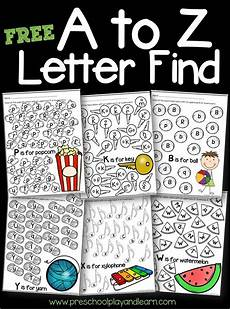 alphabet worksheets for kindergarten a to z free 23438 a to z letter find letter recognition preschool letters letter find