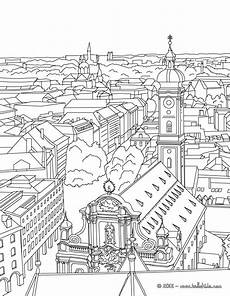 coloring pages places in town 18038 st paul church of frankfurt coloring pages hellokids