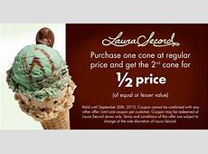 Laura Secord: Buy One Ice Cream Cone and Get the Second at