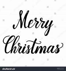 lettering merry christmas inscription black stock vector 341006342