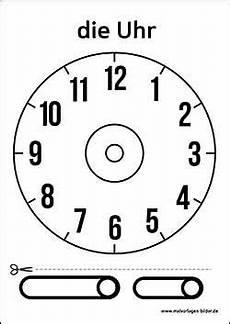 Zifferblatt Vorlage Ausdrucken Arbeitsmaterialien Uhr