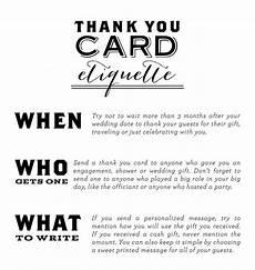 Wedding Thank You Etiquette No Gift thank you card etiquette wedding ideas