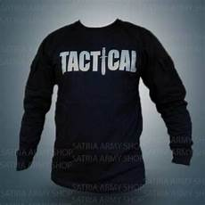 baju tactical hitam lengan panjang baju kaos tactical