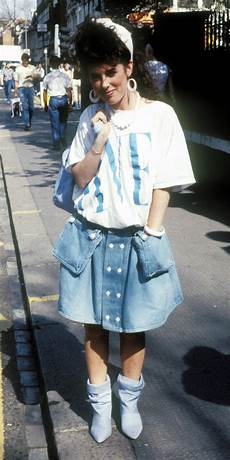 1980s skirts and hairstyles history of the denim skirt gallery instyle com