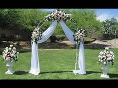 diy wedding arch decoration ideas diy wedding arch decoration ideas youtube