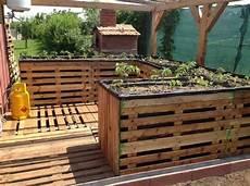 Hochbeet Aus Paletten Bauen Garten Terrasse Bodenbelag