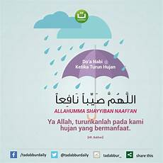 Do A Nabi Ketika Turun Hujan Tadabbur Daily