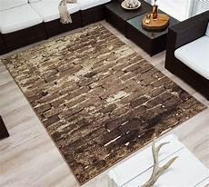 teppich steinoptik design velours kurzflor teppich 187 brick 171 mauer steinoptik