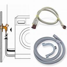 aquastop schlauch anschließen anschluss set aquastop zulaufschlauch ablaufschlauch 2m