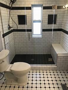 Modern Black And White Bathroom Vista Remodeling