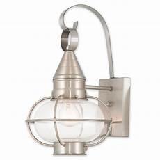 livex lighting newburyport 1 light brushed nickel outdoor wall lantern 26901 91 the home