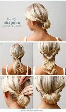 super easy 5 minute hairstyles for busy chignon hair hair styles updo