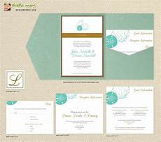 diy custom wedding invitation suite beach sea shells design customized printable pdf