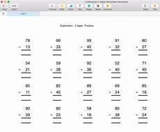 subtraction below 100 worksheet generator singapore math by moomel teaching resources tes