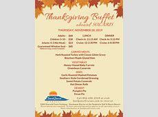 Thursday, Nov 28, 2019   Destin Thanksgiving Lunch