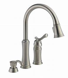 delta pull kitchen faucet delta lakeview 59963 sssd dst pull sprayer stainless