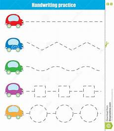handwriting worksheets with starting dots 21631 handwriting practice sheet educational children stock vector illustration of lines