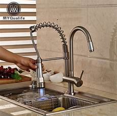 changing kitchen sink faucet luxury led color changing kitchen sink faucet nickel brushed sprayer mixer tap