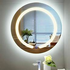 20 quot round led mirror illuminated light wall bathroom make up touch button ebay