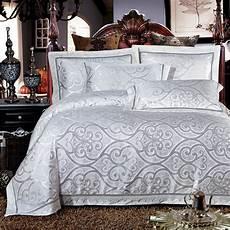 high quality white modal cotton jacquard bedding set lace edge duvet cover set 100 modal cotton