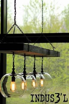 luminaire industriel suspension suspension indus3 l bois recycl 233 et verre industriel