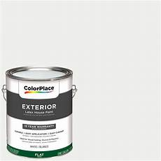 colorplace exterior white flat paint 1 gallon with