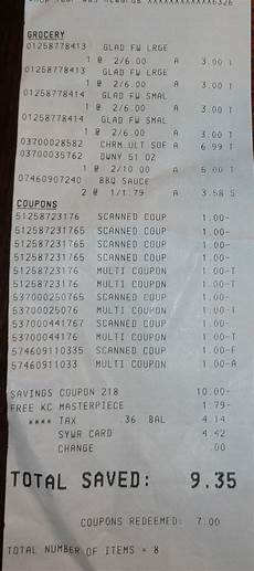 s kmart shopping trip 0 for 8 items but they cost me 5