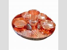 Pure Copper Dinner Set at Rs 1500 /piece   Copper Utensils