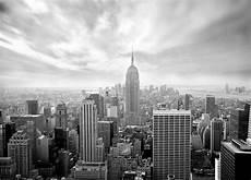 skyline new york black and white wallpaper murals by homewallmurals