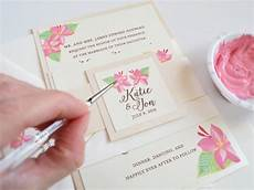 Painted Wedding Invitations painted floral wedding invitations mospens studio