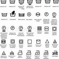 trockner zeichen bedeutung textilpflegesymbol stock vector colourbox