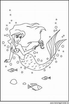 Ausmalbilder Meerjungfrau Mit Seepferdchen Ausmalbild Einer Meerjungfrau Zum Ausdrucken