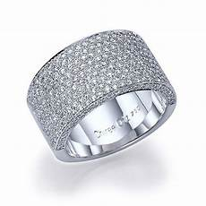 2 70 carat 11mm wide band pave diamond wedding