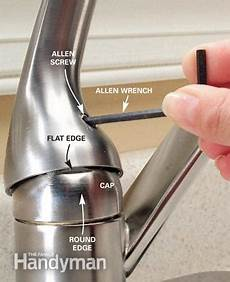 fixing kitchen faucet how to repair a single handle kitchen faucet the family handyman