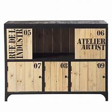 mobilier industriel meuble cuba buffet buffet metal