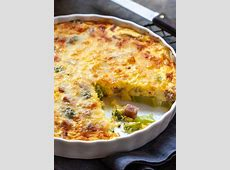 crustless broccoli and cheese quiche_image