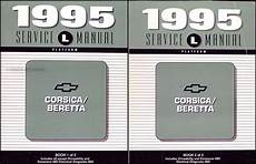 free car repair manuals 1995 chevrolet beretta parking system 1995 chevrolet corsica and beretta repair shop manual set 95 chevy service z26 ebay