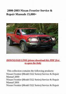 how to download repair manuals 2001 nissan frontier transmission control 2000 2003 nissan frontier service repair manuals 15 000 by dale issuu