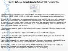 ez1095 software makes it easy to mail out 1095 forms in time