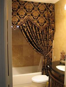 bathroom ideas with shower curtains remodeled bathroom new vanity paint travertine floors and i made shower curtain myself