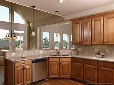 Kitchen Decorating Ideas Oak Cabinets by Corner Stove Designs House Furniture