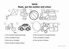 toys and colours esl worksheets for distance learning and physical classrooms