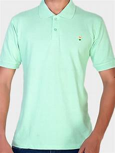 T Shirt Tshirt Green Light plain light green cotton polo t shirt