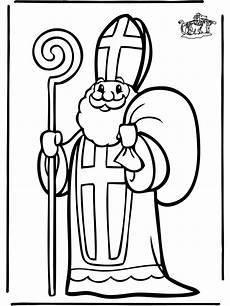 Ausmalbild Bischof Nikolaus Ausmalbilder Nikolaus 03 Kiga