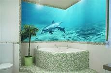 aquarium im badezimmer fliesotec foto auf glas glasfliesen glasmosaik