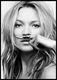 kate moss poster black and white photo is a joke
