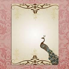 wedding cards design templates hd blank wedding invitations peacock template wedding ideas