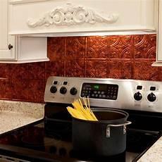 Copper Tiles For Kitchen Backsplash Fasade 24 In X 18 In Traditional 1 Pvc Decorative